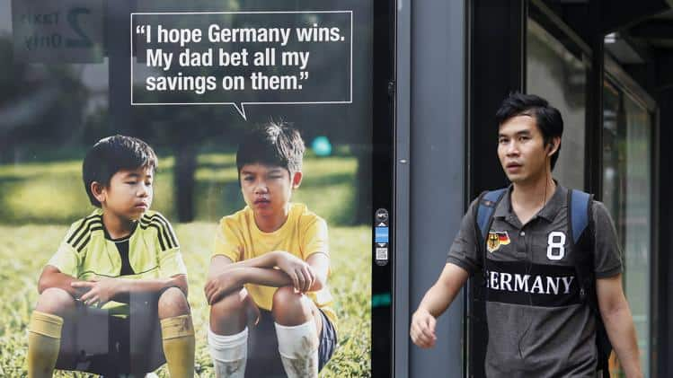 Anti Gambling advert Germany world Cup