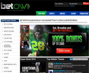 Bitcoin sportsbook BetOWI home page