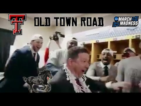 Texas Tech celebrating with Lil Nas X's Old Town Road!