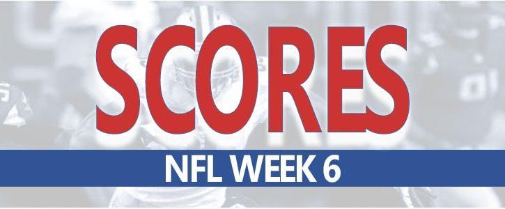 NFL Scores for Week 6 at MyBookie Sportsbook