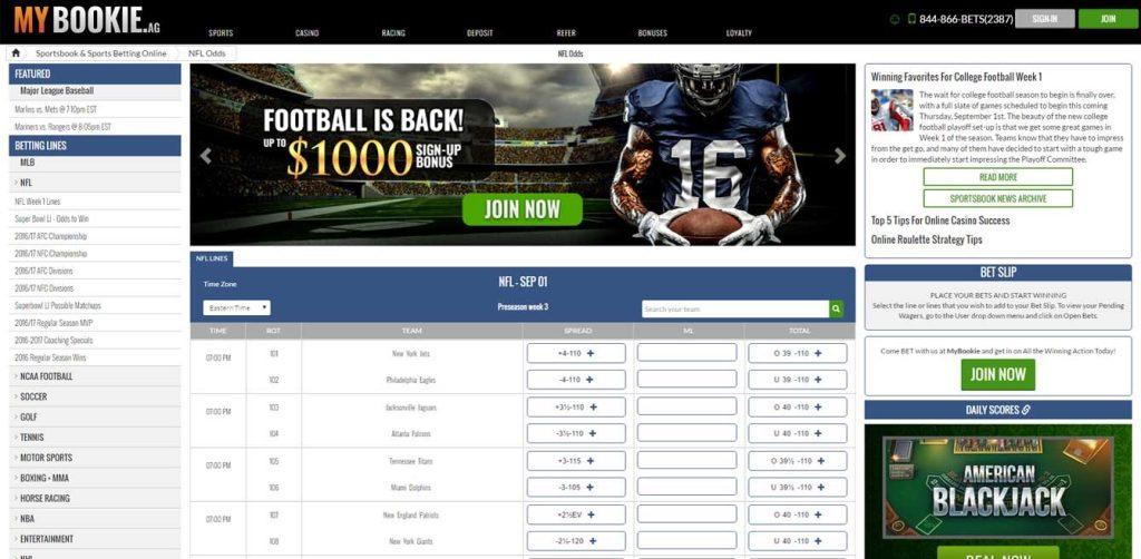 MyBookie Sportsbook Lines