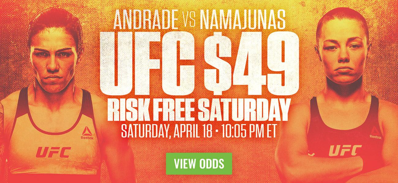 Rose Namajunas vs Jessica Andrade - $49 Risk Free Bet UFC3