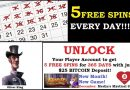 5 Free Spins every Day Promo
