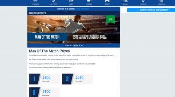 Man Of The Match Soccer Prizes up to $500 to be Won at BetUS!