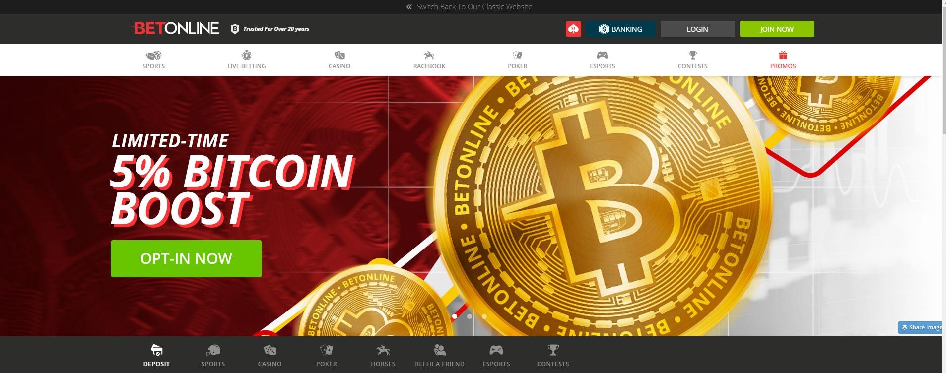 5% Bitcoin Deposit Boost Promotion